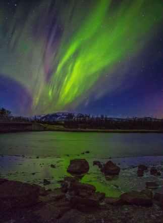 aurora during night